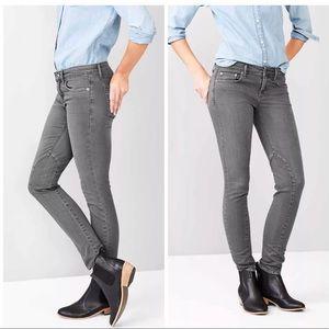 Gap Always Skinny Grey Moto Jeans SZ 34